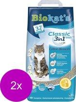 Biokat's Classic Fresh Katoenbloemen - Kattenbakvulling - 2 x 10 l