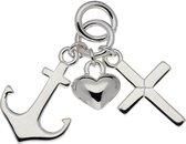 Hanger Geloof Hoop & Liefde - Echt Zilver