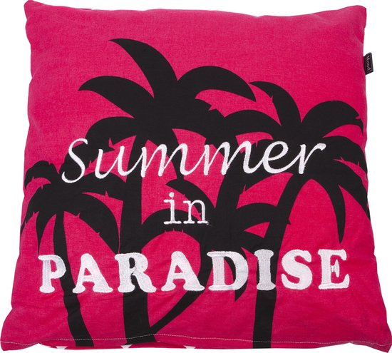 In The Mood Paradise Zigzag - Sierkussen - 50x50 cm - Fuchsia