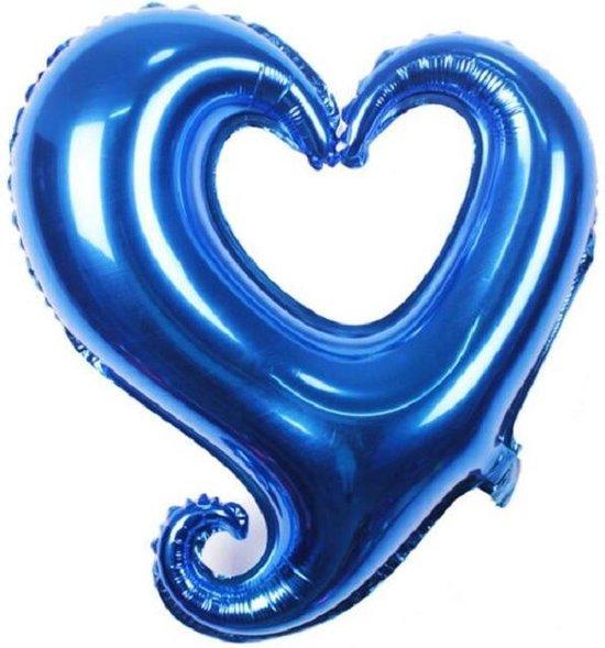 Folieballon Fantasie hart blauw 45 cm