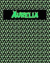 120 Page Handwriting Practice Book with Green Alien Cover Aurelia