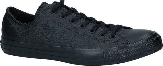 Converse - Chuck Taylor All Star Leather High - Sneaker laag gekleed - Heren - Maat 44 - Zwart;Zwarte - Black Monochrome