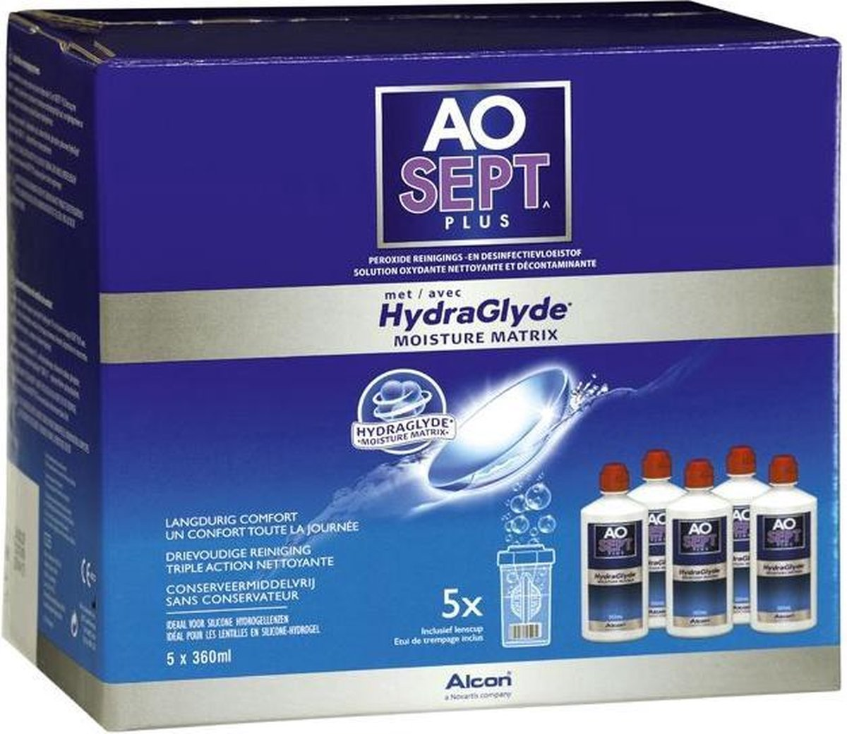 AOSEPT  PLUS with HydraGlyde  Multipack 5x360ml