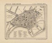 Historische kaart, plattegrond van stad Hoorn in Noord Holland uit 1867 door Kuyper van Kaartcadeau.com - Veelkleurig