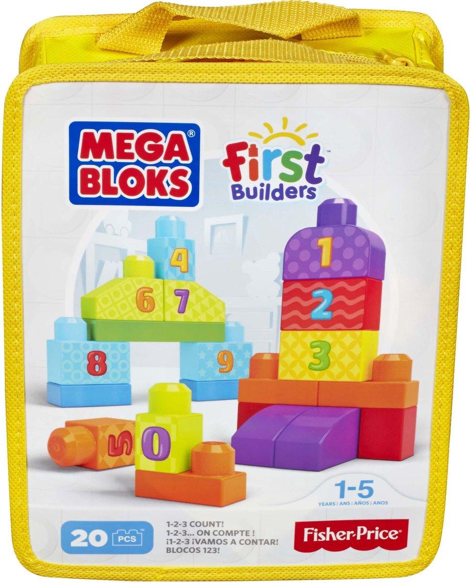 Mega Bloks First Builders 1 2 3 Tellen - Constructiespeelgoed