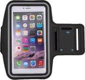 Zwart Universele Spatwaterdichte Sportarmband geschikt voor Apple iPhone 7 Plus / 7+ - Hardloop 5.5 inch Sport Armband Met Sleutelhouder (Apple iPhone, Samsung, Huawei, LG, HTC, Huawei) - Waterproof / Waterdichte Case / Hoesje