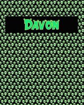 120 Page Handwriting Practice Book with Green Alien Cover Davon