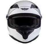 MOTO • GLOSS WHITE • L • Helm - Motorhelm - Integraalhelm - Scooterhelm - Motor - Scooter - Brommer