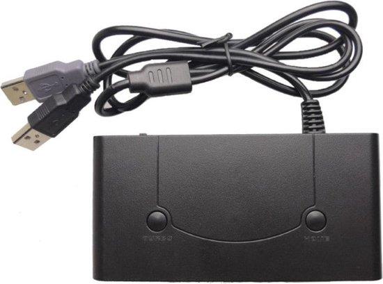 GameCube USB Controller Adapter v2 voor Wii U, Nintendo Switch & PC (met Turbo en Home functie) - Merkloos