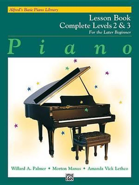 Boek cover AlfredS Basic Piano Library Lesson 2-3 Complete van Willard A Palmer (Hardcover)
