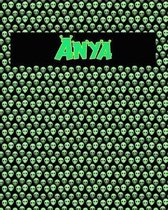 120 Page Handwriting Practice Book with Green Alien Cover Anya