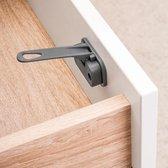 DesignLine kast- en ladebeveiliging zonder schroeven | Antraciet (2 stuks)