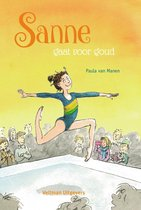 Boek cover Sanne gaat voor goud van Paula van Manen