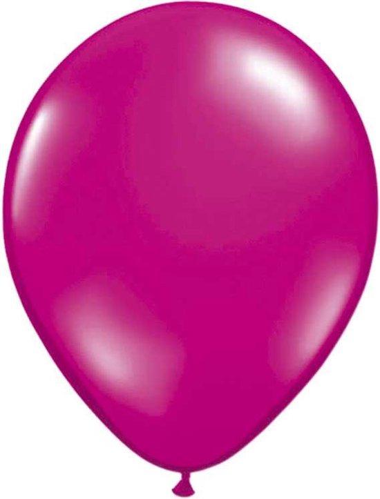 Magenta Metallic Ballonnen 30cm - 100 stuks