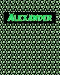 120 Page Handwriting Practice Book with Green Alien Cover Alexander