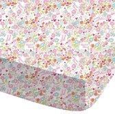 Disney Minnie Mouse Bloom -  Hoeslaken - Eenpersoons - 90 x 200 cm - Multi