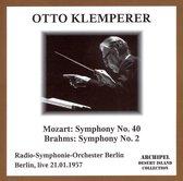 Mozart: Symphony No.40, Brahms: Symphony No.2