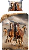 Animal Pictures Paarden - Dekbedovertrek - Eenpersoons - 140 x 200 cm - Multi