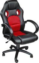 Tectake Luxe design racing Bureaustoel - Rood/zwart