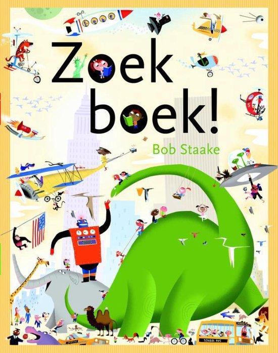 Boek cover Zoek boek! van Bob Staake (Hardcover)