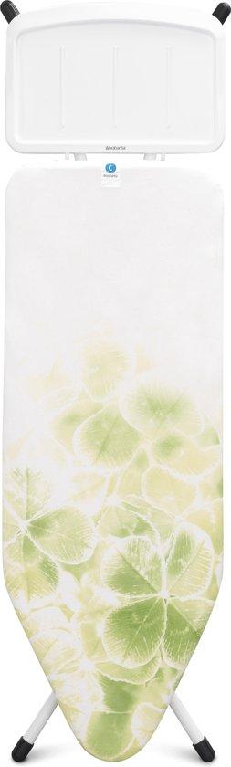 Brabantia Strijkplank C met Stoomunithouder - 124 x 45 cm - Leaf Clover