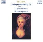 Haydn: Str. Quartets Op.71,1-3