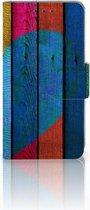 Samsung Galaxy A3 2015 Bookcase Hoesje Wood Heart