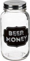 Glazen spaarpot bier geld sparen Beer Money 18 cm
