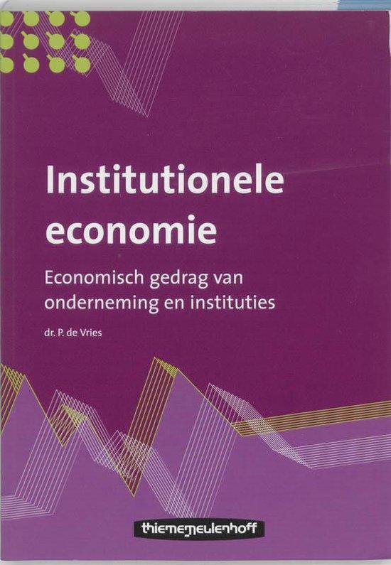 Institutionele economie - P. de Vries  
