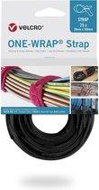 Velcro One-Wrap klittenband kabelbinders 200 x 12mm / zwart (25 stuks)