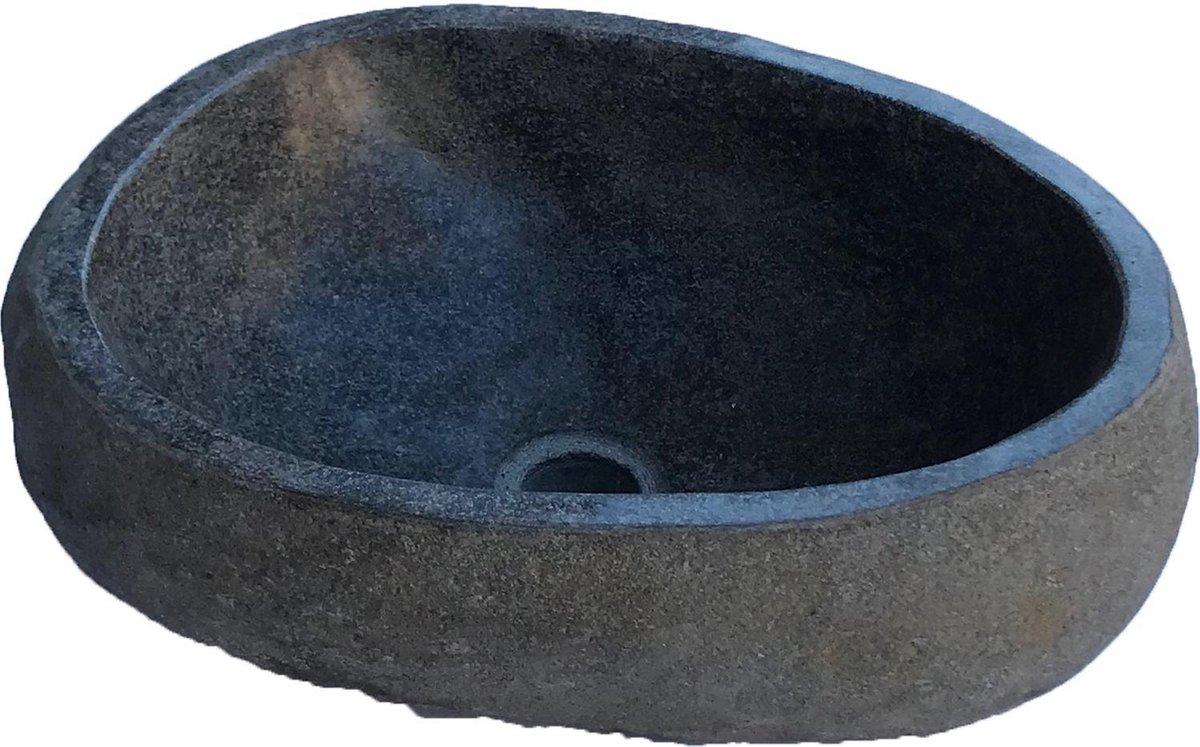ROCKQ Medium - Ø 40-50cm - Wasbak Wastafel - Riviersteen Waskom