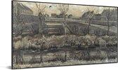 Kwekerij op de Schenkweg - Schilderij van Vincent van Gogh Aluminium 40x20 cm - Foto print op Aluminium (metaal wanddecoratie)