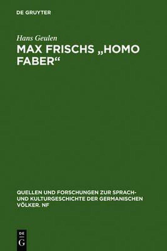 Afbeelding van Max Frischs Homo faber