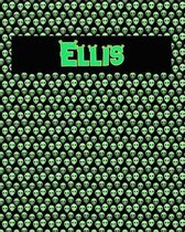 120 Page Handwriting Practice Book with Green Alien Cover Ellis