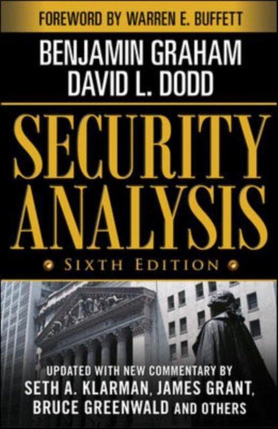 Boek cover Security Analysis van Benjamin Graham (Hardcover)