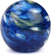 Glasobject Elan Marble mini urn glas blue 1500 ml