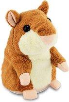Pratende Knuffel - Hamster - Bruin