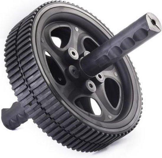 Matchu Sports - Ab Wheel - Ab roller - Buikspierwiel - Ø 18.5cm - Zwart