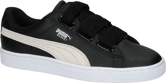 Puma Basket Heart Lage Sneakers Zwart