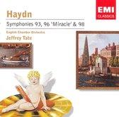 Haydn: Symphonies 93, 96 'Miracle' & 98