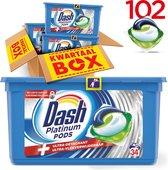 Dash Platinum Pods - Kwartaalbox 102 Wasbeurten - Wasmiddelcapsules