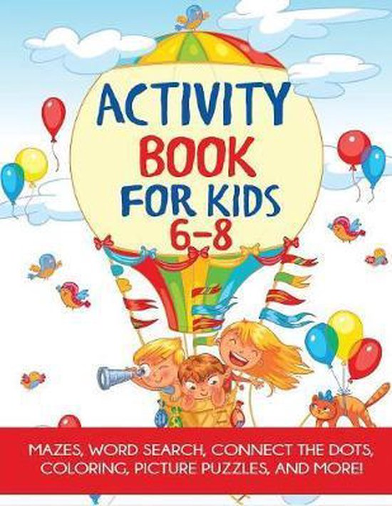 Activity Book for Kids 6-8