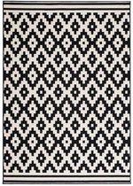 Kayoom Now Vloerkleed 80 x 150 cm Zwart/Creme