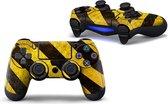 PS4 dualshock Controller PlayStation sticker skin   Geel Zwart