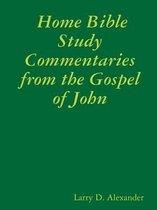 Boek cover Home Bible Study Commentaries from the Gospel of John van Larry D. Alexander