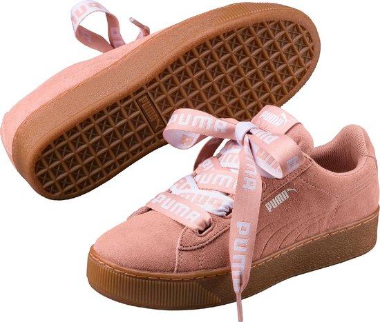 PUMA Vikky Platform Ribbon Bold Sneakers Dames - Peach Beige-Peach Beige -  Maat 41