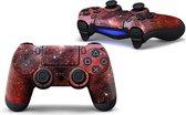 Sticker Skin PS4 DualShock Controller  Galaxy Red