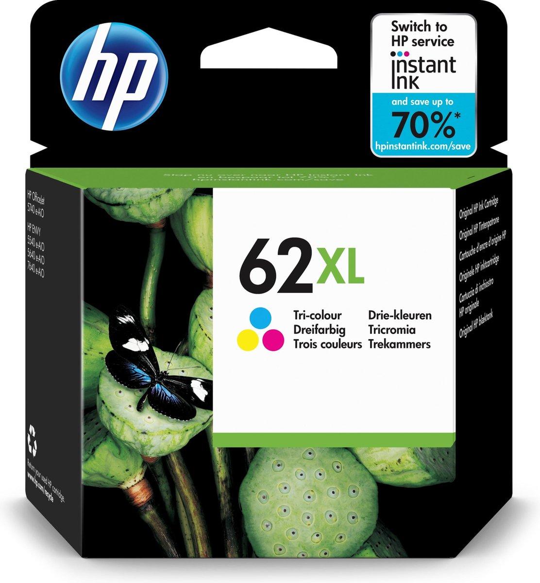 HP - C2P07AE - 62XL - Inktcartridge color