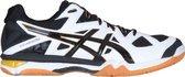 Asics Gel-Tactic Indoor Sportschoenen - Maat 49 - Mannen - wit/zwart/goud