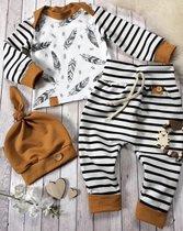 Baby 3delig kledingset | Herfst kledingset | Pasgeboren baby | Bodysuit | Huispakje | Kraamkado | Gift Set